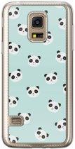Samsung Galaxy S5 Mini siliconen hoesje - Panda print