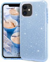 Apple iPhone 11 Glitter TPU Back Hoesje - Turquoise - van Bixb