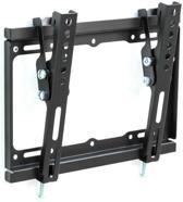 TecTake - Kantelbare muurbeugel - Geschikt voor tv's van 17 t/m 37 inch - Zwart