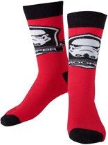 Star Wars - Black / Red Socks With Storm Trooper Logo - 43/46