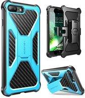 i-Blason iPhone 8 Plus extra beschermde hoes met standaard en houder blauw