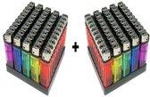 weg werp aanstekers 100 stuks totaal (2 x 50 stuks) mix kleuren Gratis verzending