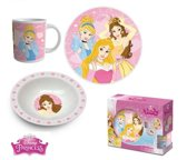 3 delig kinder serviesset van Disney Princess (keramiek)