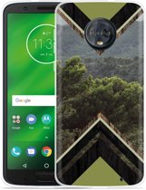 Moto G6 Plus Hoesje Forest wood