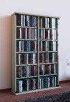 CD DVD rek kast Roma met glasdeuren Sonoma Eiken kleur