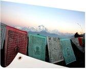 Boeddhistische gebedsvlaggen Tuinposter 60x40 cm - Foto op Tuinposter / Schilderijen voor buiten (tuin decoratie)