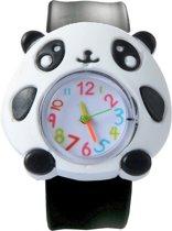 Fako Bijoux® - Kinderhorloge - Slap On Mini - Panda - Zwart/Wit