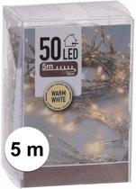 KerstXL Kerstverlichting - 5 meter - Op batterij - Warm Wit - 50 lampjes