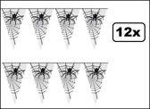 12x Horror Vlaggenlijn spin 6 meter