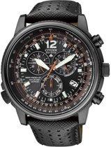Citizen Promaster Chrono - Horloge - Leer - 45 mm - Zwart - Solar uurwerk