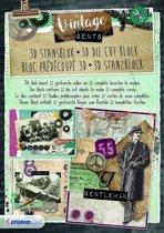 Vintage Gents - 3D Stansblok - 12 kaarten maken