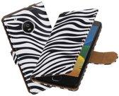 BestCases.nl Motorola Moto G5 Plus Zebra booktype hoesje