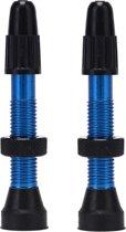 Lichtgewicht aluminium tubeless ventiel - Blauw geanodiseerd - set van 2 stuks - geschikt voor 26,27.5,28,29 inch wielen