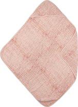 Meyco hydrofiel badcape Fine lines - oudroze/lichtroze