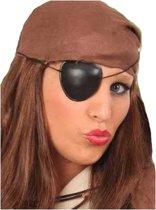 Piraten ooglapje zwart