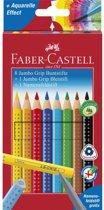Faber-Castell kleurpotlood  Jumbo GRIP promotieset 8 + 1 + 1