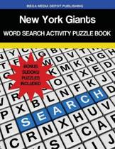 New York Giants Word Search Activity Puzzle Book