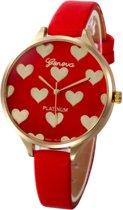 Hartjes Horloge - Rood