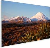 Vulkaan in het Nationaal park Tongariro in Nieuw-Zeeland Plexiglas 180x120 cm - Foto print op Glas (Plexiglas wanddecoratie) XXL / Groot formaat!