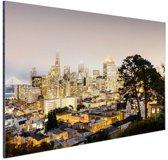 San Francisco by night Aluminium 120x80 cm - Foto print op Aluminium (metaal wanddecoratie)