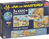 Jan van Haasteren Tour de France 3 in 1 - Puzzel 3x 1000 Stukjes