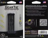 Nite Ize Gear Tie Rubber Zwart 4stuk(s) kabelbinder