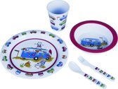 Flamefield Harry - Kinderservies-  Melamine - 5 Delig