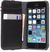Decoded Lederen Book Case Telefoonhoesje voor Apple iPhone SE / 5s / 5 - Zwart