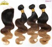 Brazilian hair ombre body wave bundel deal