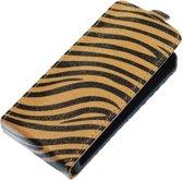 Bruin Zebra Flip case hoesje voor Samsung Galaxy S3 I9300