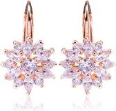 Victoria - Rose Goudkleurige Oorbellen - Australisch Bergkristal - Nieuw Design