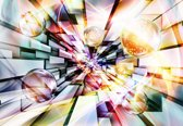 Fotobehang Abstract Multicolour Bubbles | XXXL - 416cm x 254cm | 130g/m2 Vlies