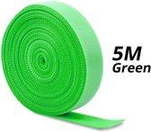 2x 5m Klittenband rol voor kabel organisatie   cable management   Groen