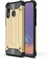 Ntech Samsung Galaxy A30 Hybrid Armor Hoesje - Goud