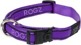 Rogz For Dogs Armed Response Hondenhalsband - 25 mm x 43-73 cm - Paars Chrome