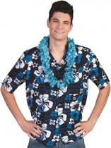 Blauwe Hawaii blouse Honolulu 56-58 (2xl/3xl)