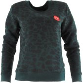 Leopard Basic Sweat Pine Grove