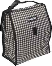 Pack It Koeltas - Lunch Tas - 8 Liter - Gingham - Grijs