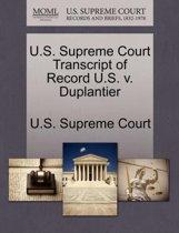U.S. Supreme Court Transcript of Record U.S. V. Duplantier