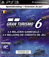Sony PlayStation Gran Turismo 6 Abonnement België 2,5 Miljoen Game Credits PS3 + PSN