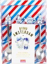 Blond Amsterdam Delfts Blond Theelepels - 4 Stuks