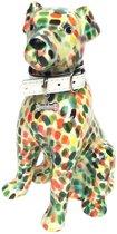 Pomme Pidou spaarpot hond Mylo - Licht groen met streepjes