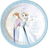 8 kartonnen bordjes van Frozen™ - Feestdecoratievoorwerp