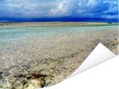 De Tuamotu-archipel bij het eiland Moorea in Frans-Polynesië Poster 160x120 cm - Foto print op Poster (wanddecoratie woonkamer / slaapkamer) XXL / Groot formaat!