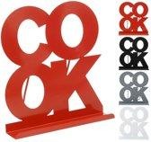 Kookboekstandaard metaal COOK rood