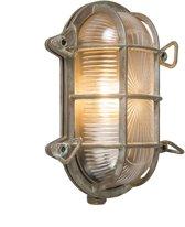 QAZQA Nautica - Wand en plafond spot - 1 lichts - D 105 mm - Bruin