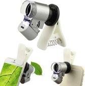 Universele Clip On Smartphone Microscoop Lens - Zoomlens iPhone / Mobiele Telefoon Camera Telelens
