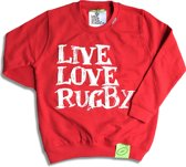 LiveLoveRugby, Rugby sweater kids rood mt 12-13 jr, 152-158