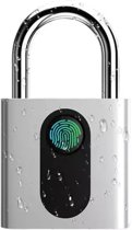 Hangslot met vingerafdruk scanner , USB oplaadbaar, waterdicht, hangslot voor deur, bagage, rugzak,Waterproof & Roestvrij Staal