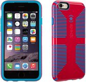 Speck CandyShell Grip - Hoesje voor iPhone 6 / 6s - Lipstick Pink / Jay Blue Core